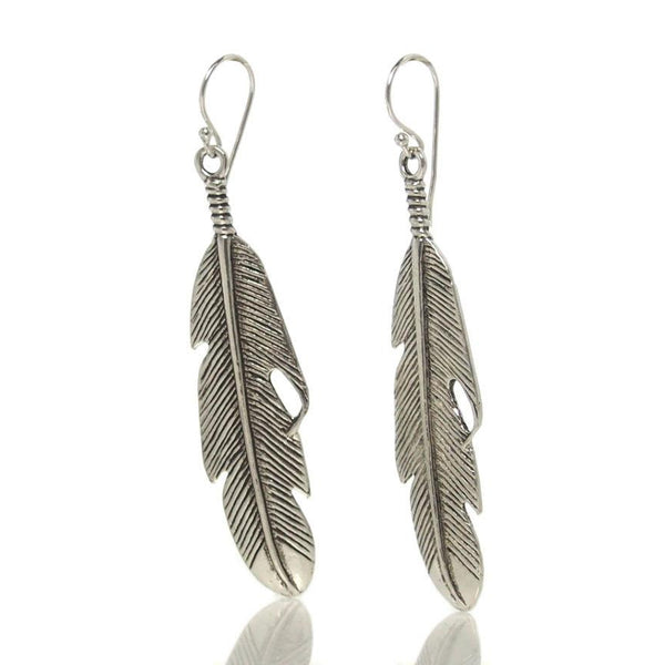 Sterling Silver Feather Earring (Thin)
