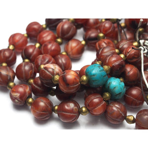 Carnelian Heirloom Dowry Beads 1