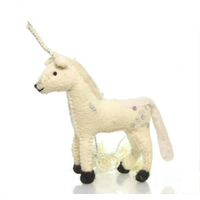 Fabric Unicorn Ornament