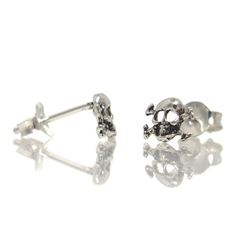 Sterling Silver Mini Skull/Crossbone Stud Earrings