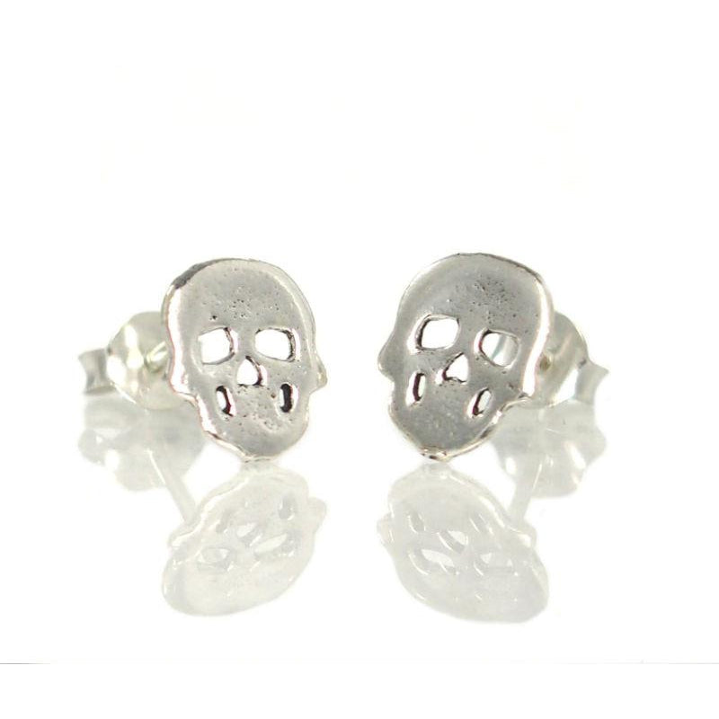 Skull Sterling Silver Mini Stud Earrings