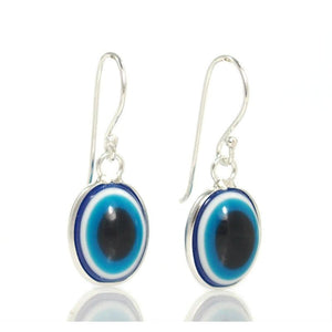 Sterling Silver Deep Blue Eye Earrings