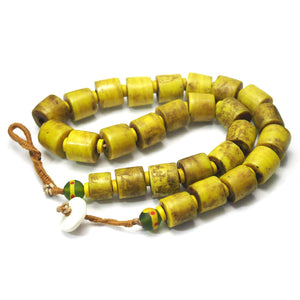 "Brotherly Love 18: Naga Heirloom ""Head Hunter/ Trophy Head"" Necklaces with Venetian Green Chevron Beads circa 1950 and Indian White Heart Bead Tamba with Indonesian Art Glass Striped Barrels and 19th Century Snuff Box from Nepal"
