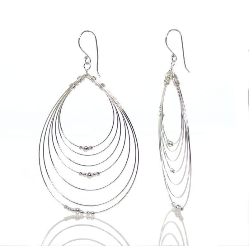 silver cascade earrings bisous products in sterling little teardrop gold grande plated