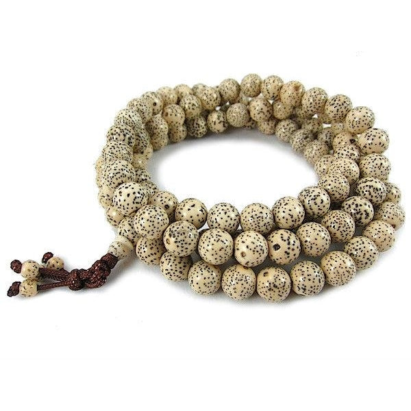 Polished Rattan Seed Pod Mala 9mm