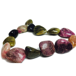 Tourmaline Extra Large Smooth Nuggets Strand