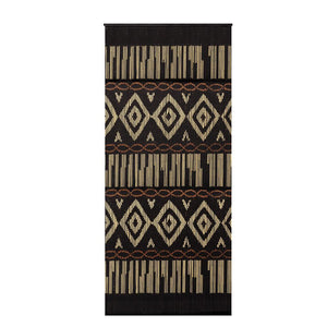 Bamboo Beaded Curtain Hand Painted-Mud Cloth