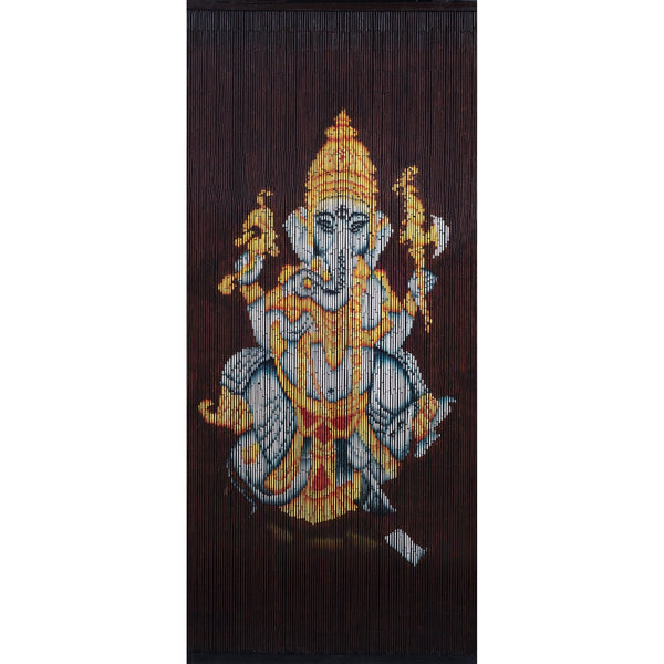 FINAL SALE Factory Second Bamboo Beaded Curtain - Ganesha (2)