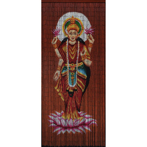 Bamboo Beaded Curtain Hand Painted-Lakshmi