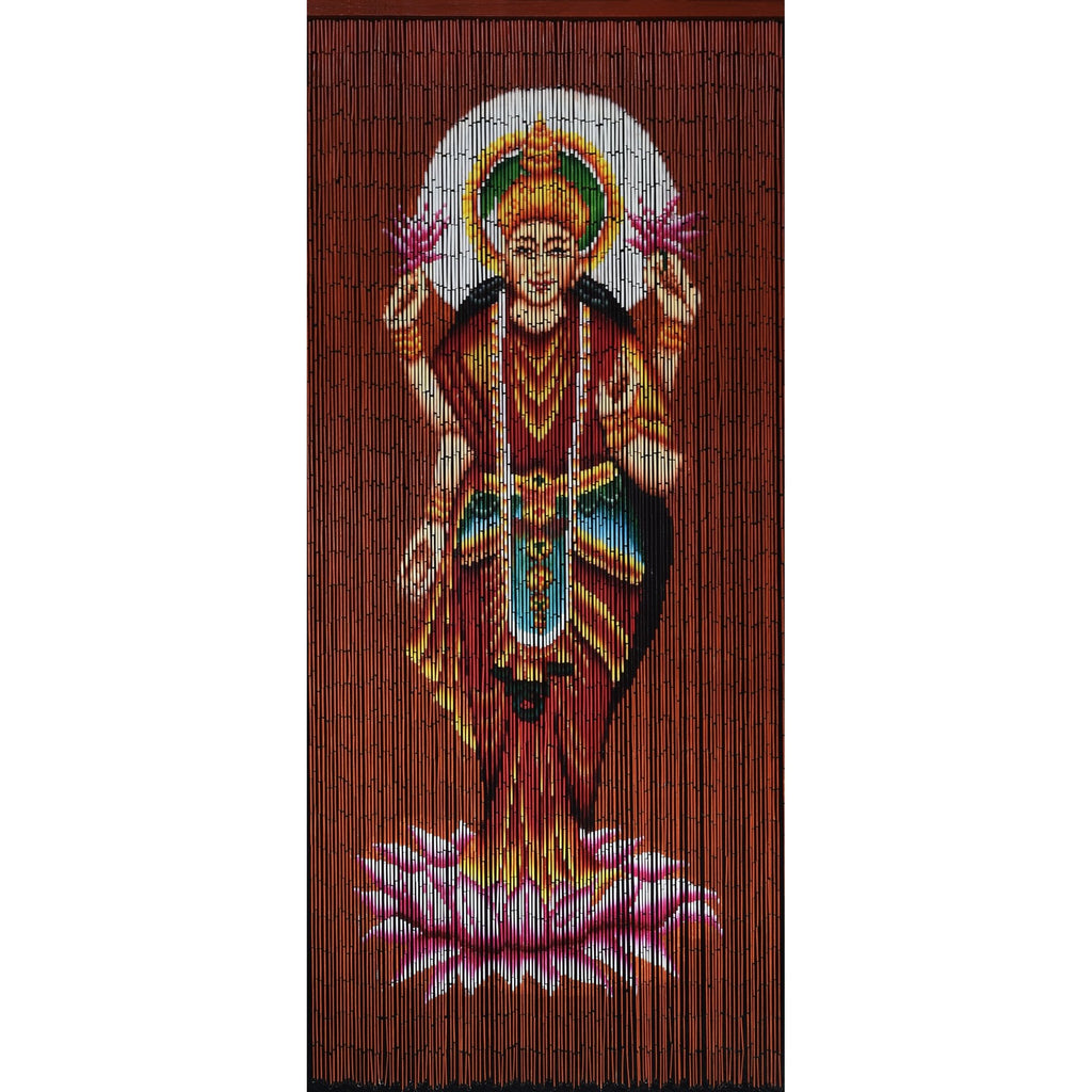 FINAL SALE Factory Second Bamboo Beaded Curtain - Lakshmi