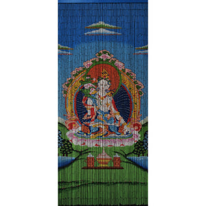Bamboo Beaded Curtain Hand Painted - White Tara