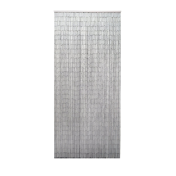 Bamboo Beaded Curtain Hand Painted-White