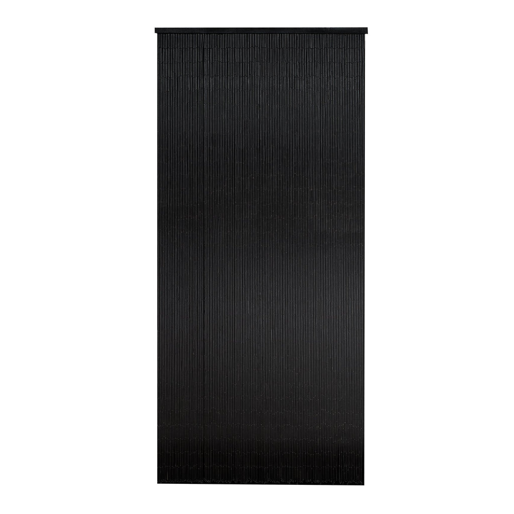 Bamboo Beaded Curtain Hand Painted-Black
