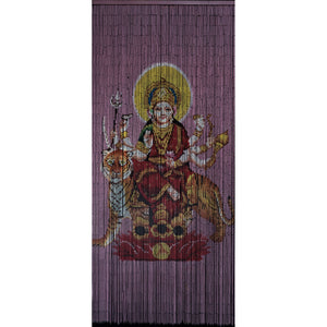 Bamboo Beaded Curtain Hand Painted - Durga