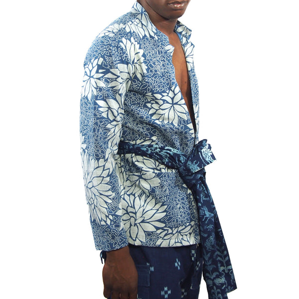 Lotus Flower Indigo Jacket