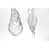 Sterling Silver Circle Cascade Earrings