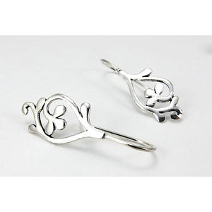 Fancy Clover Sterling Silver Earrings