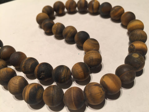 Tiger Eye Matte 10mm Rounds