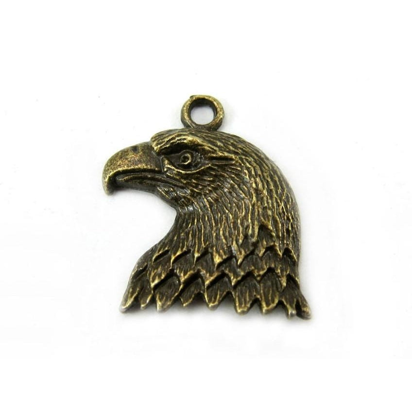 Eagle Head Brass Pendant