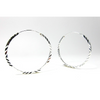Sterling Silver Etched 34mm Hoop Earrings