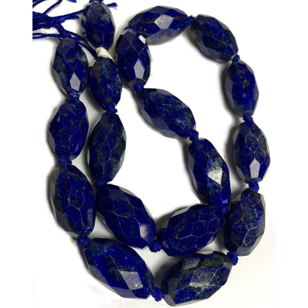 Lapis Lazuli Hand Faceted Lozenges Strand