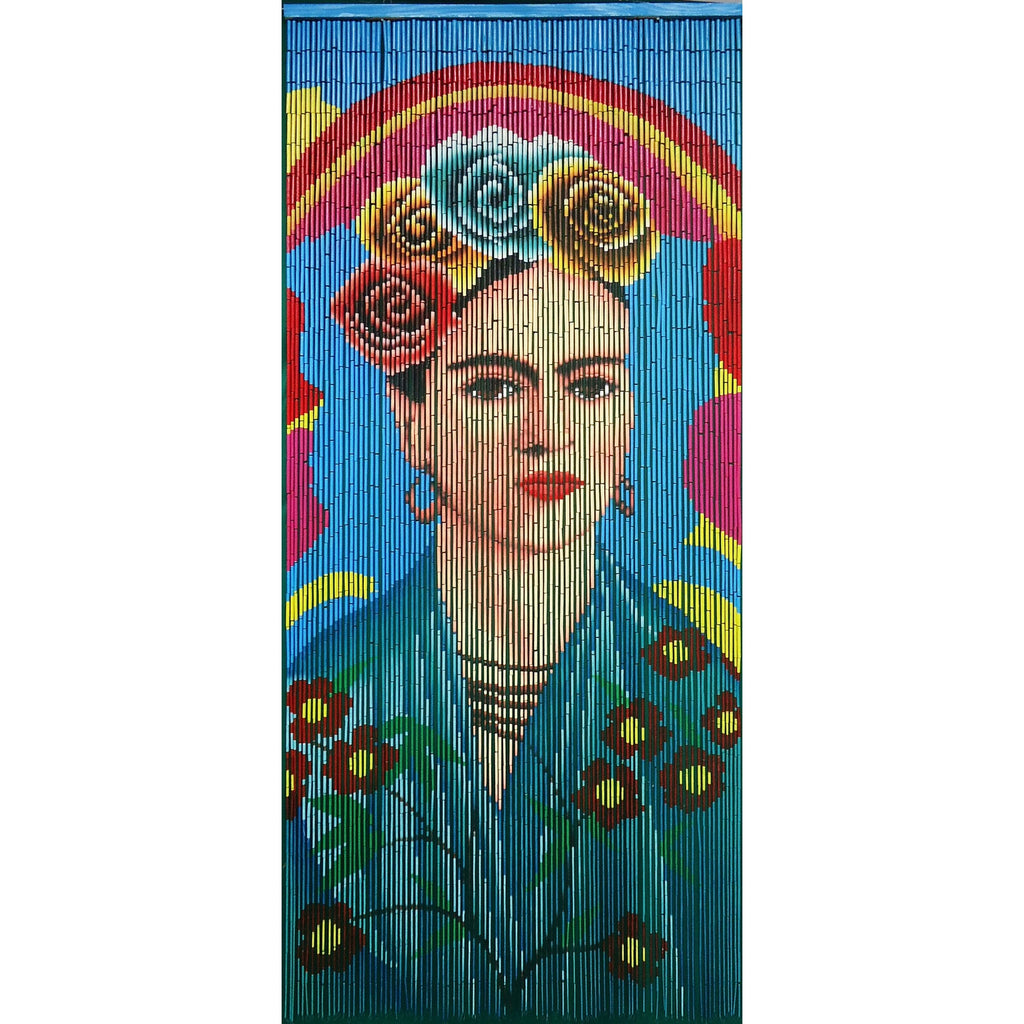 Bamboo Beaded Curtain Hand Painted-Frida
