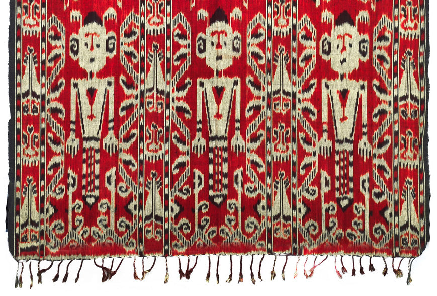 Textile 19: Heirloom Ikat Hand Woven Tapestry from Sumba Indonesia 1