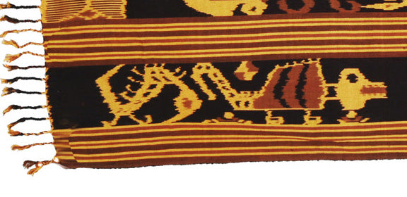 Textile 17: Heirloom Ikat Hand Woven Tapestry from Sumba Indonesia 2