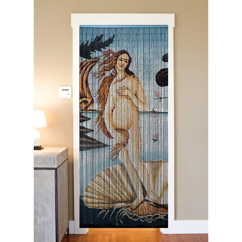 Bamboo Beaded Curtain Hand Painted-The Birth of Venus (Botticelli)