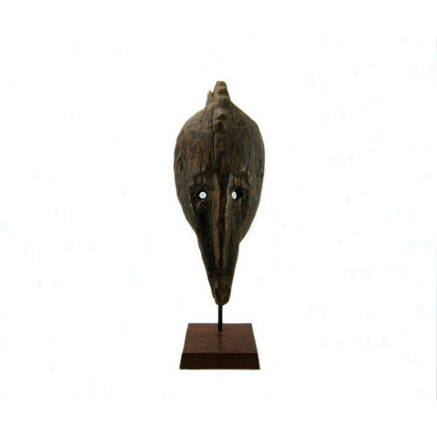 Marka Carved Wood Mask