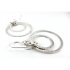 Hand Hammered Occulus Sterling Silver Earrings