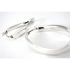 Sterling Silver Oval Twisted Hoop Earrings