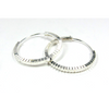 Ribbed Sterling Silver 20mm Hoop Earrings
