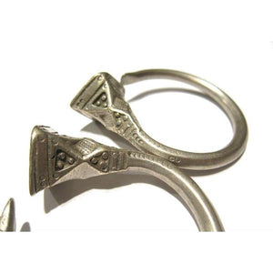 Tuareg 19th C. Silver Earrings