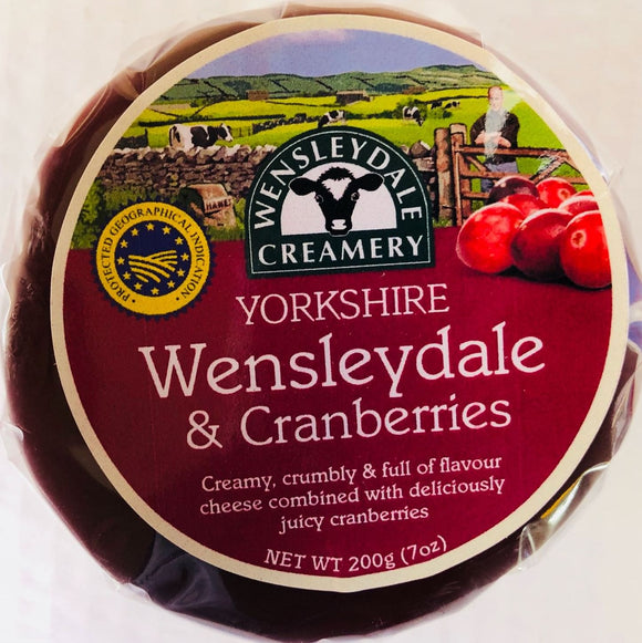 Yorkshire Wensleydale with Cranberries