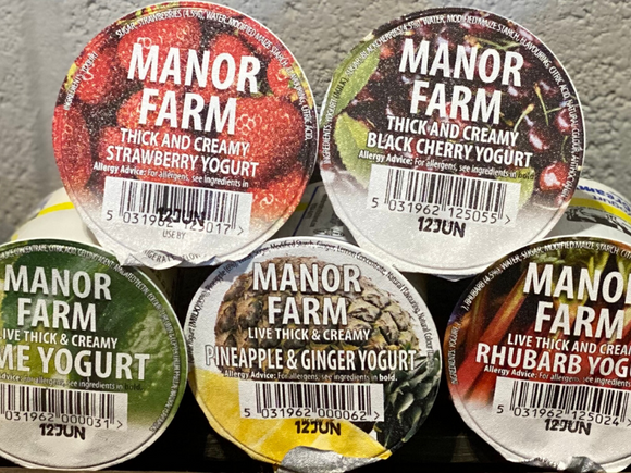 Manor Farm Yoghurts 125ml