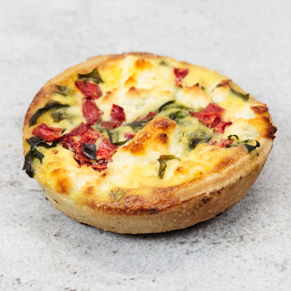 Red pepper and goats cheese tart (Individual)