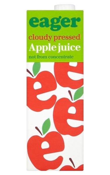 Eager Cloudy Pressed Apple Juice 1l
