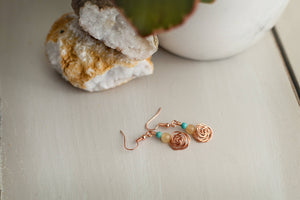 Kelly Earrings - Copper