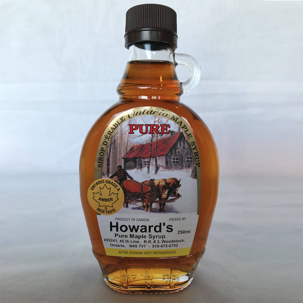 Howard's Maple Syrup - 250ml glass