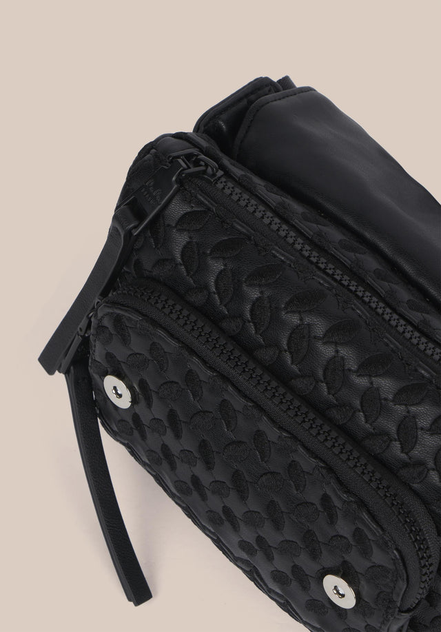 Belt Bag Alea Kufiya Embroidery Black - An elegant belt bag, made of black veggie leather with... - 7/7