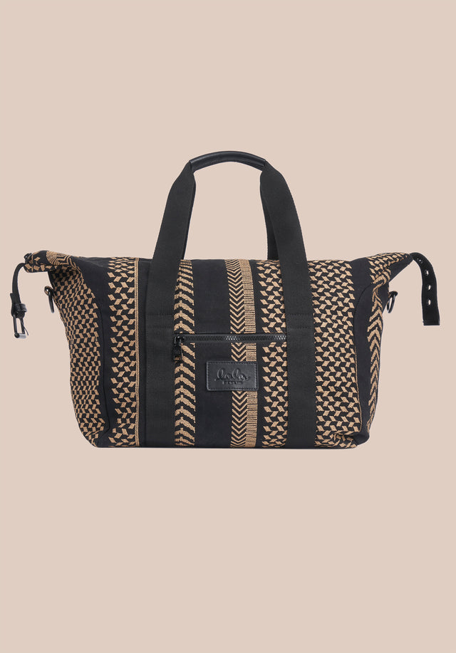 Big Bag Muriel X-Stitch Kufiya X-Stitch - A roomy weekender with intricately crafted Kufiya Crossstitch on black... - 5/11