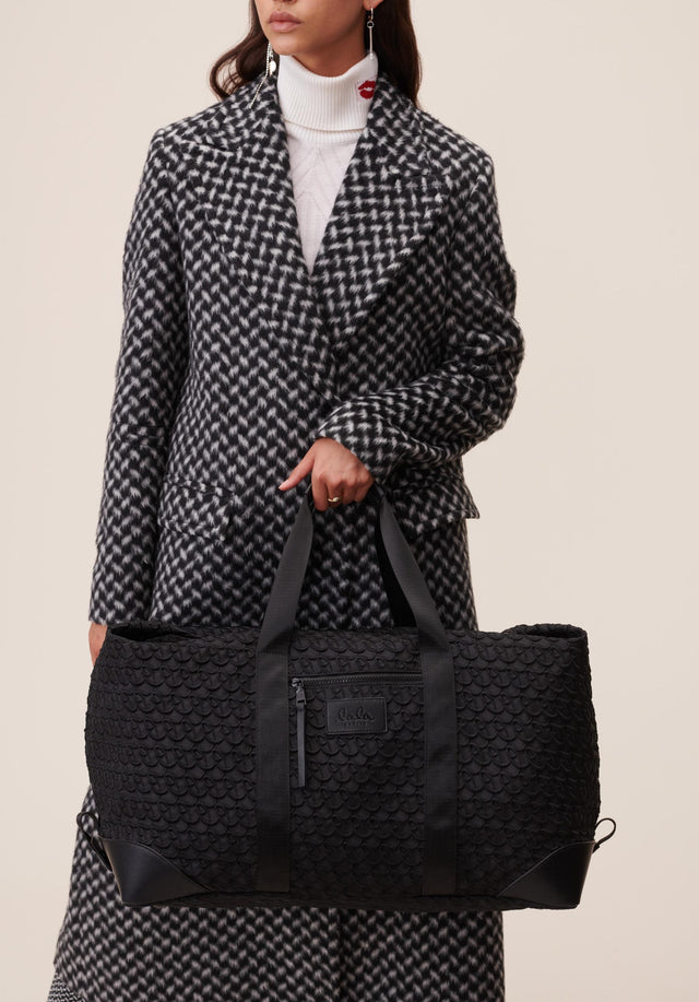 Big Bag Muriel XL Monogram Monogram Black - A large weekender with carefully stitched lala Berlin Monogram on... - 2/11
