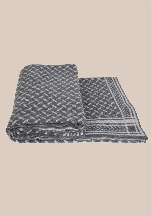 Blanket Trinity Classic Lubecca Flanella - A soft and luxurious cashmere blanket with a jaquard pattern... - 2/4