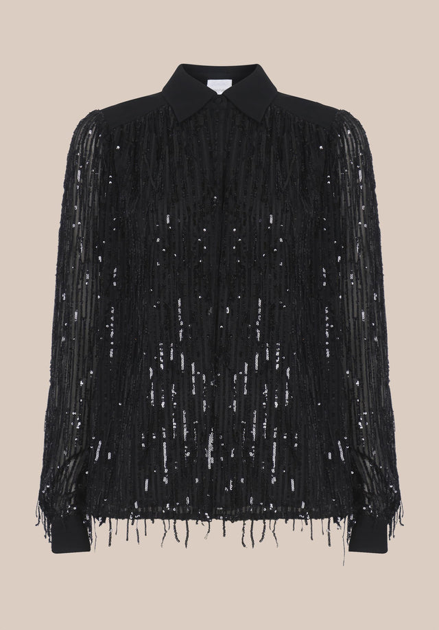 Blouse Bling Black - An extravagant shirt blouse with a hint of cowgirl and... - 4/4