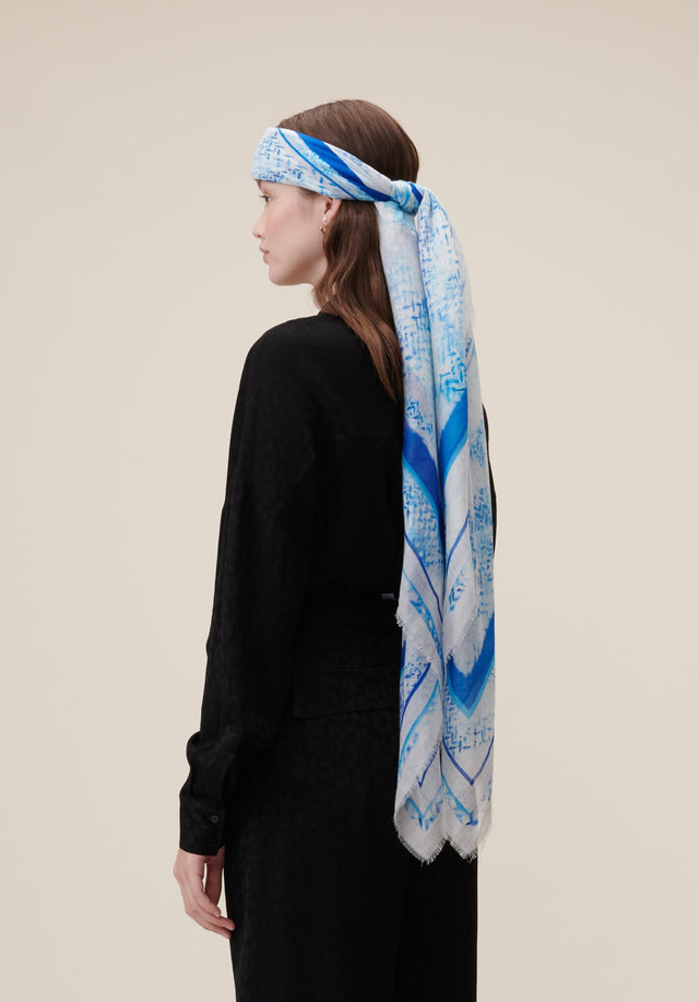 Cotton Voile Waterfall Kufiya Waterfall Kufiya - A big, rectangular scarf made of light cotton, sporting our... - 1/4