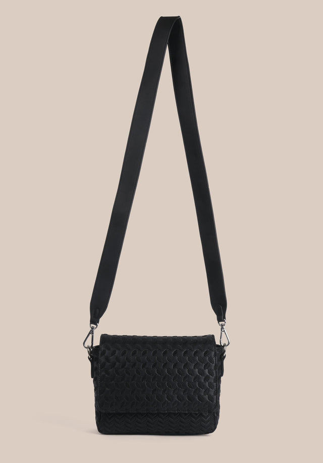 Crossbody Annabella Embroidery Kufiya Emboidery Black - A handy crossbody bag made of black veggie leather with...