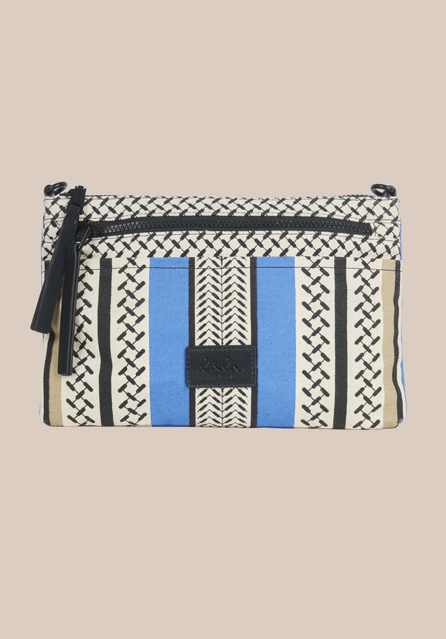 Crossbody Zabiana Colored Palace Blue and Warm Sand - A casual shoulder bag, featuring a Kufiya print with colour-block... - 4/6