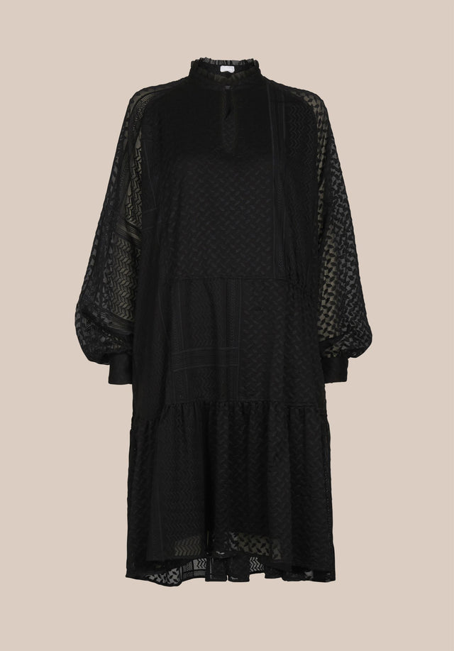 Dress Darcya Kufiya Embroidery Black - A feminine and uncomplicated embroidered dress, accentuated with wide sleeves,... - 7/7