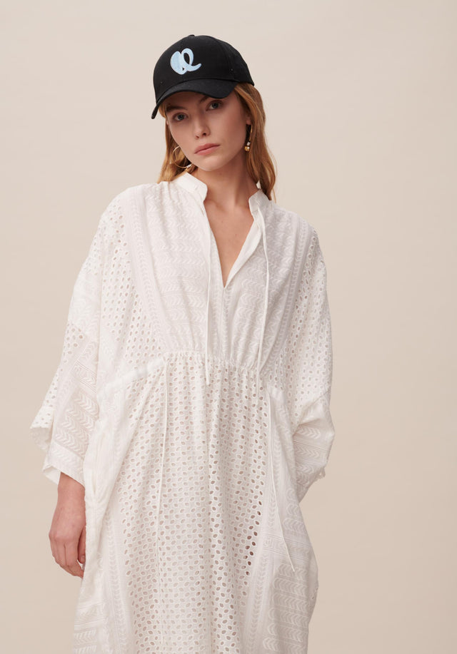 Dress Delias Broderie Anglaise Kufiya - Welcoming our urban kaftan in delicate broderie anglaise to the... - 8/11